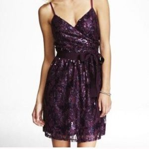 Express Sequined Mini Dress, Size XS